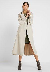 Kaffe - INDIA ROUND NECK DRESS - Shift dress - grape leaf - 1