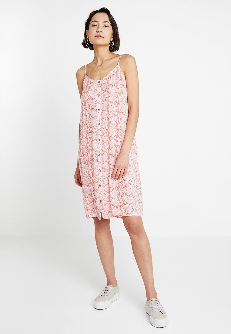 Kaffe - KAONA STRAP DRESS - Shirt dress - living coral