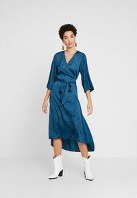 Kaffe - KABALTAZAR WRAP DRESS - Day dress - moroccan blue - 1