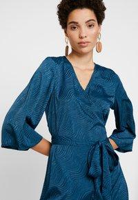 Kaffe - KABALTAZAR WRAP DRESS - Day dress - moroccan blue - 4