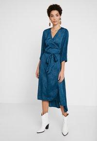 Kaffe - KABALTAZAR WRAP DRESS - Day dress - moroccan blue - 0