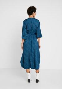 Kaffe - KABALTAZAR WRAP DRESS - Day dress - moroccan blue - 2