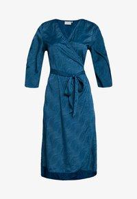 Kaffe - KABALTAZAR WRAP DRESS - Day dress - moroccan blue - 3