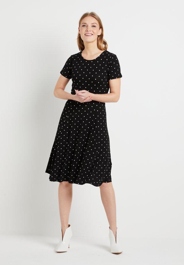 KAHAZEL DRESS - Jerseykjole - black deep
