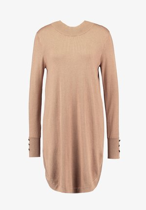 KAMELLY  - Pletené šaty - tannin melange