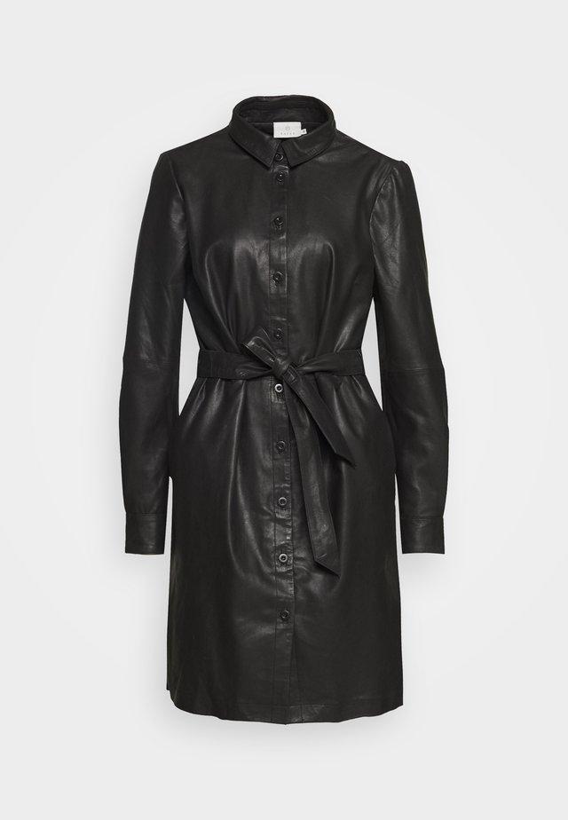 KALEANN DRESS - Shirt dress - black deep