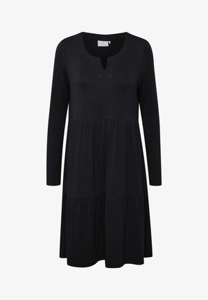 KAPETRA LS DRESS - Jerseyjurk - black deep