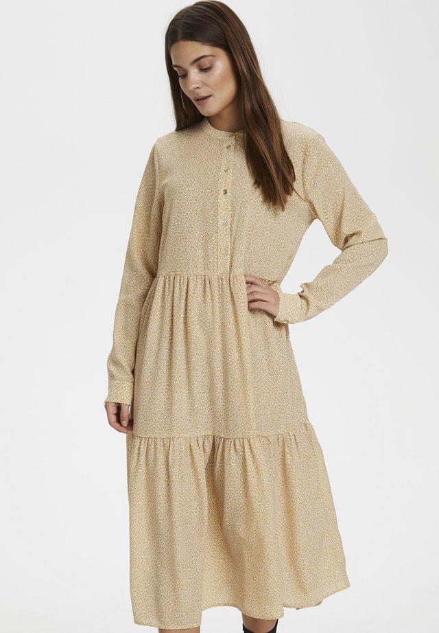 KAKINDRA  - Shirt dress - yellow/chalk