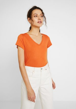 ANNA V NECK  - T-shirt basic - burnt orange