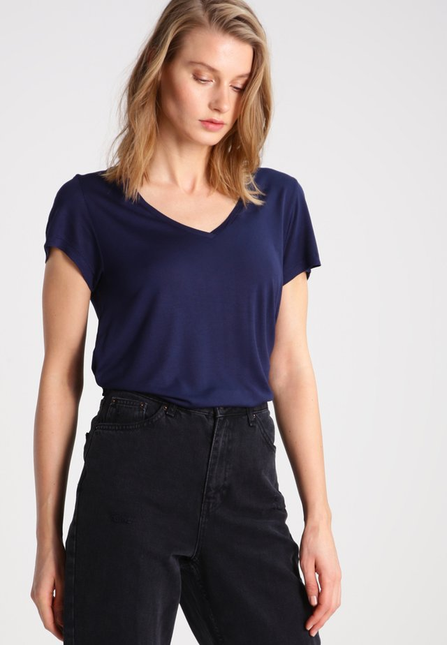 ANNA V NECK - T-Shirt basic - midnight marine