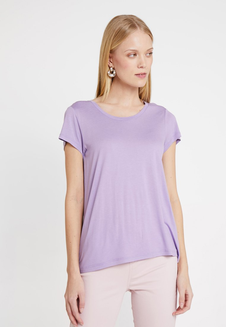 Kaffe - ANNA O NECK - T-Shirt basic - viola