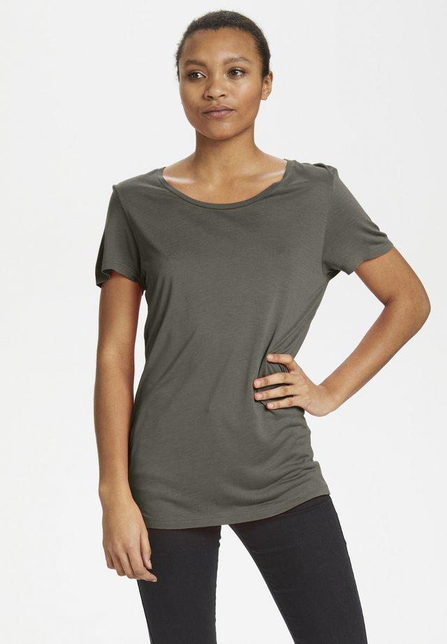 ANNA O-NECK T-SHIRT - T-Shirt basic - grape leaf