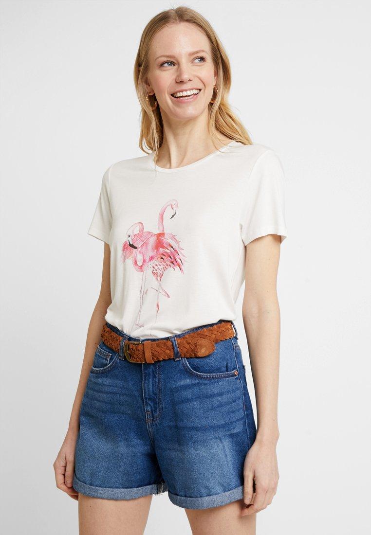 Kaffe - Print T-shirt - chalk