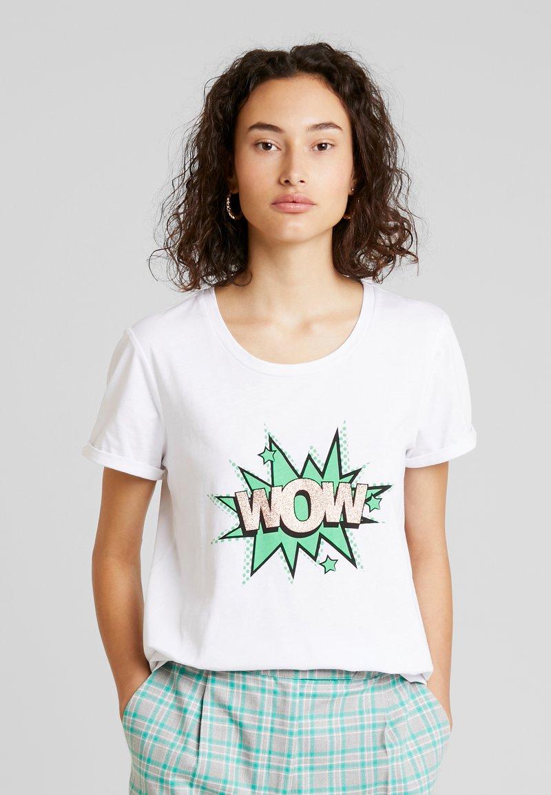 Kaffe - WOW - Print T-shirt - optical white