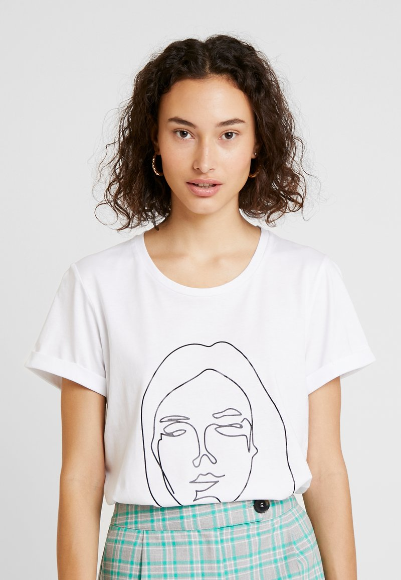 Kaffe - Print T-shirt - optical white