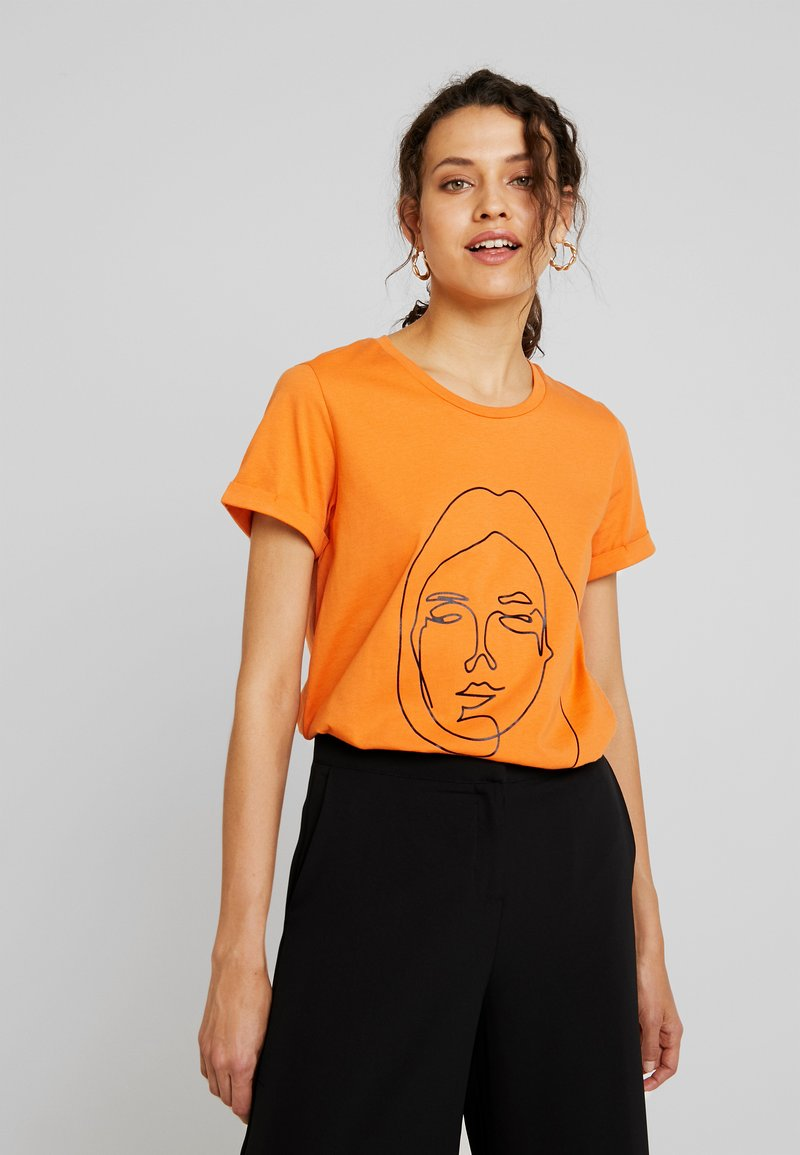 Kaffe - Camiseta estampada - burnt orange