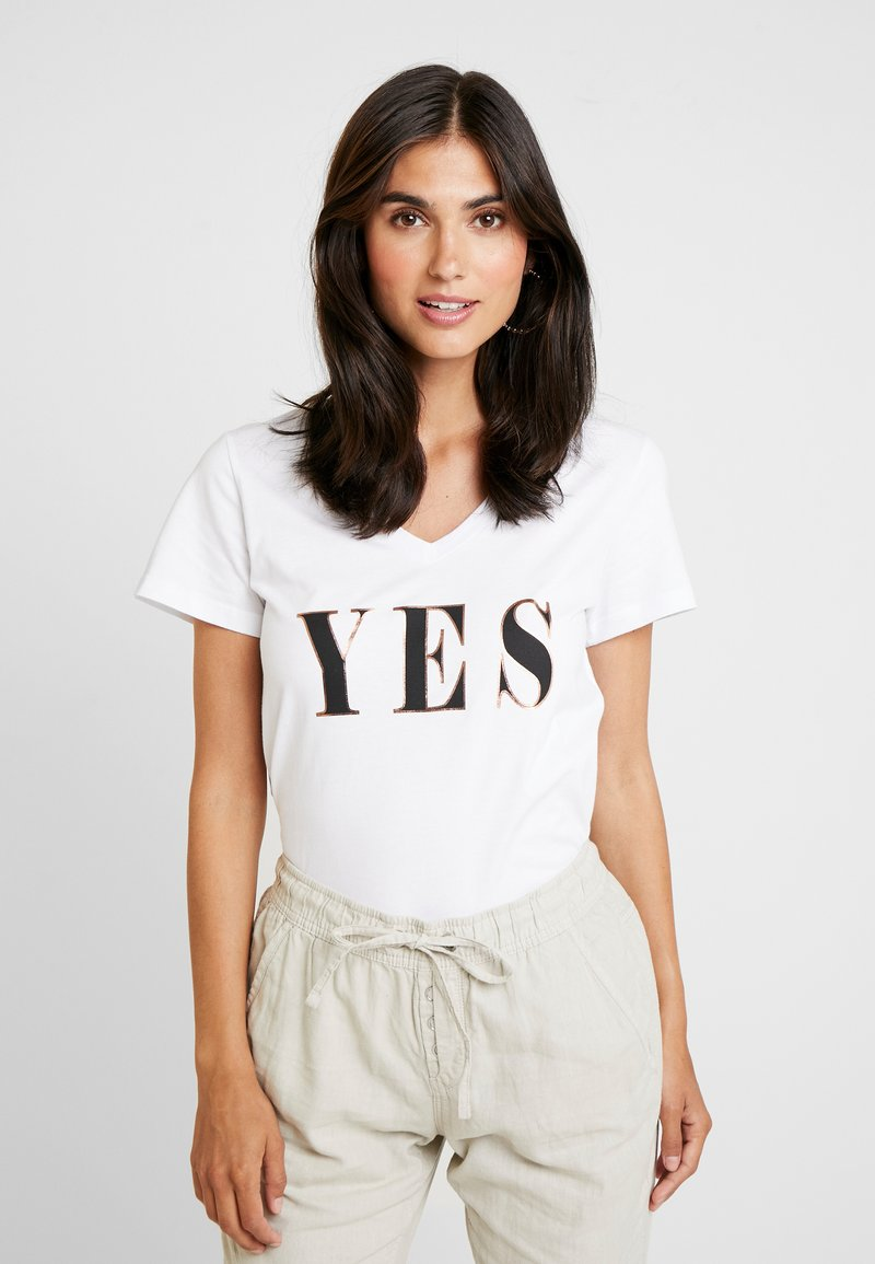 Kaffe - KAYES - T-shirts print - optical white