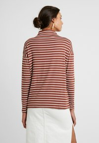 Kaffe - KALIDDY HIGH NECK - Long sleeved top - tortoise shell/chalk - 2