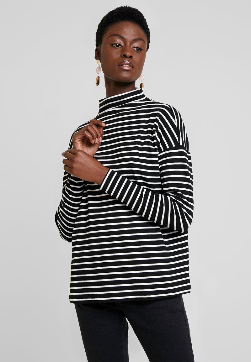 Kaffe - KALIDDY HIGH NECK - Long sleeved top - black deep/chalk