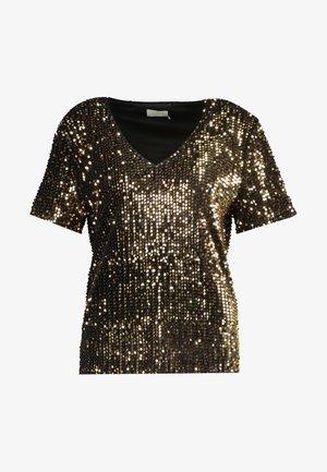 KACOLENE  - T-shirt imprimé - black deep/gold