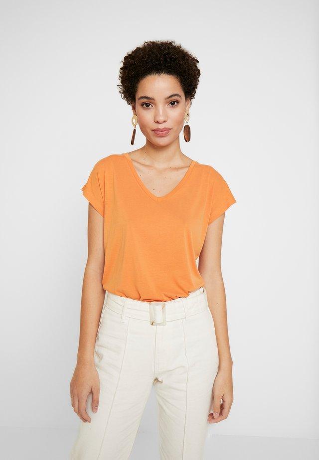LISE - T-shirt basic - orange ochre