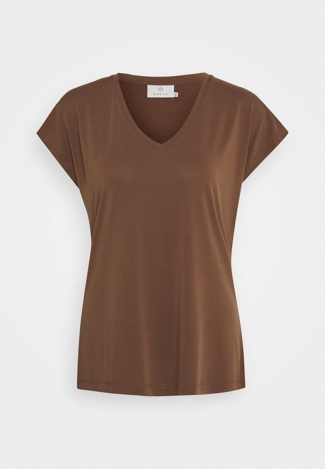 LISE - Basic T-shirt - brown