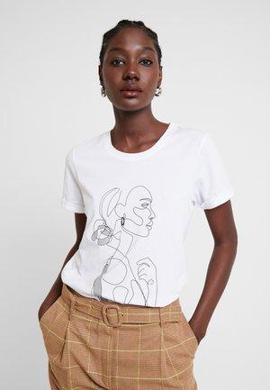 KAFARRIE - T-shirt print - optical white