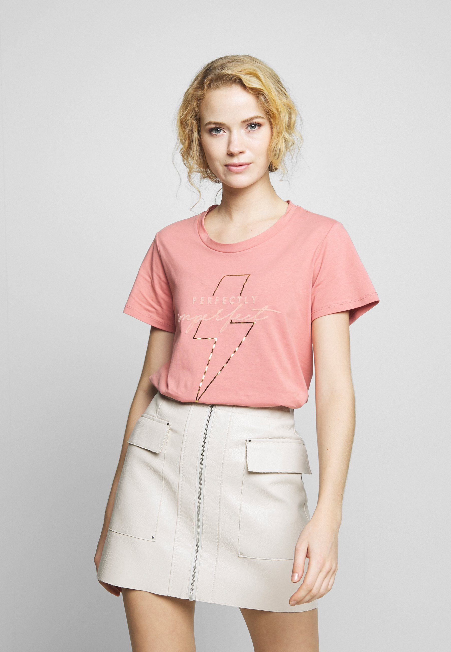 Kaffe KURA - T-shirts med print - old rose