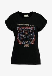 Kaffe - CRISTY - Print T-shirt - black deep - 3