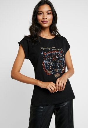 CRISTY - Print T-shirt - black deep