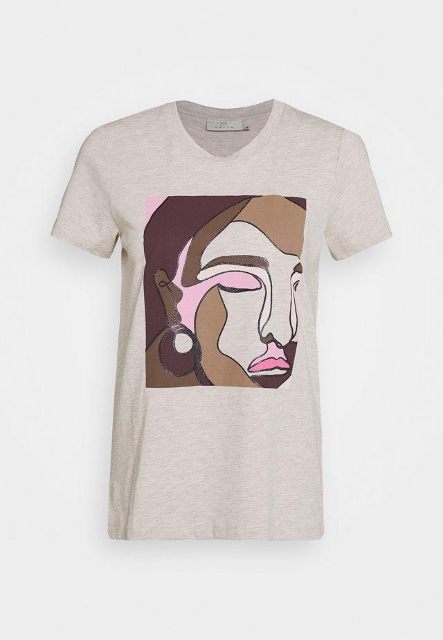 BONNIE - T-shirt z nadrukiem - cobblestone