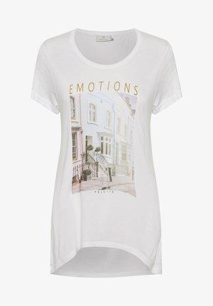 KARACHEL - T-shirt print - white w. emotions print