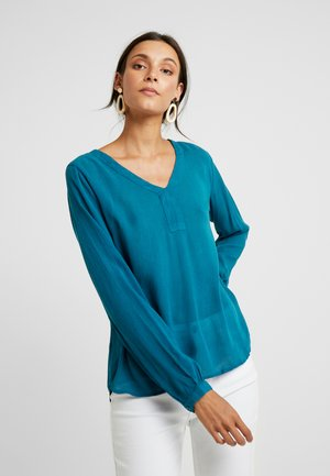 AMBER BLOUSE - Blouse - moroccan blue