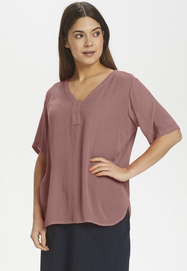 AMBER S/S BLOUSE - Bluzka - old rose