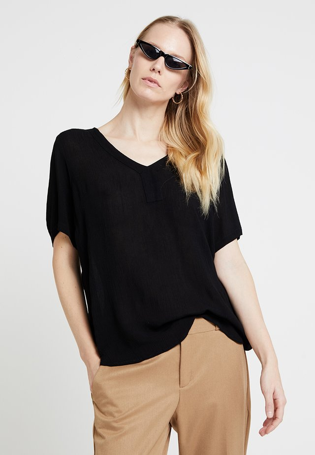 AMBER S/S BLOUSE - Blouse - black deep