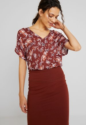 AMBER BLOUSE - Bluser - cherry mahogany