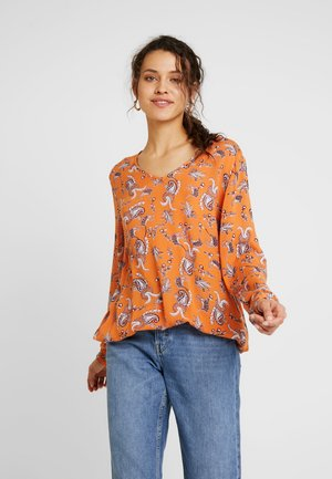 AMBER BLOUSE - Blouse - burnt orange