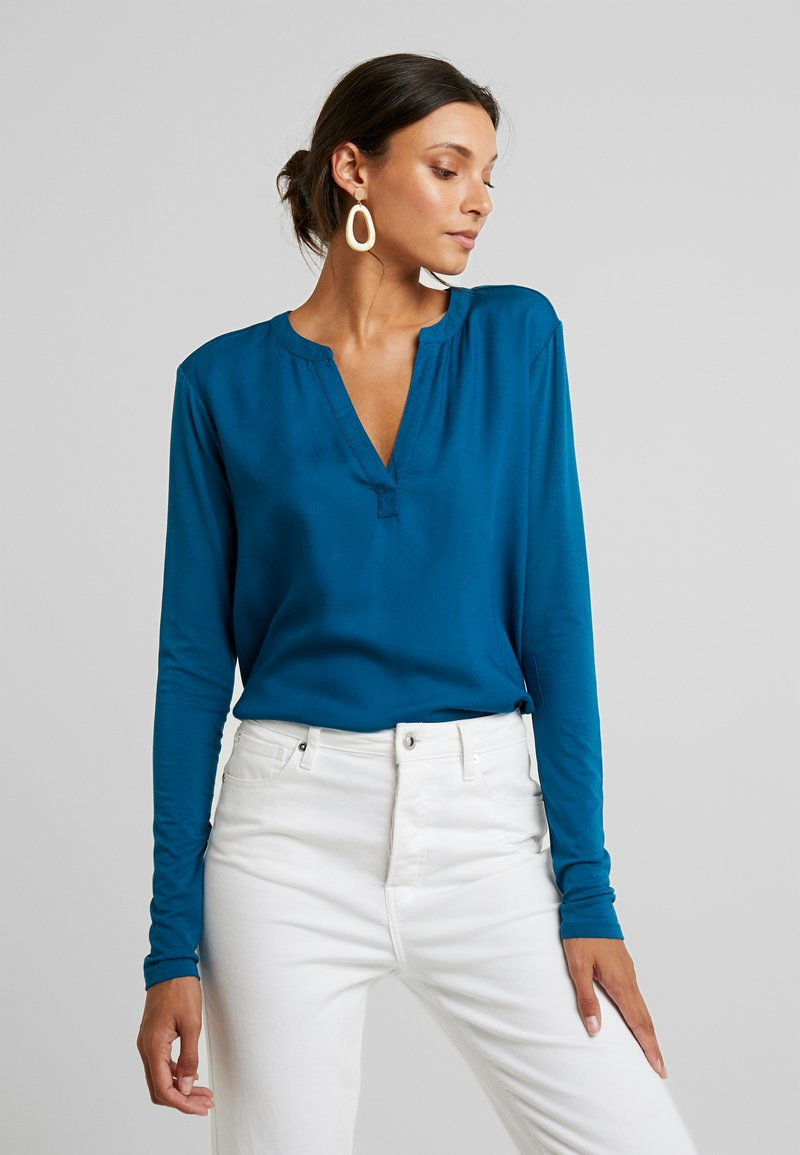 Kaffe - KACALINA BLOUSE - Bluse - moroccan blue