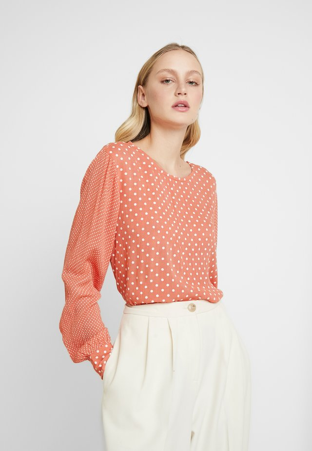 KADOTTA AMBER BLOUSE - Pusero - dull orange