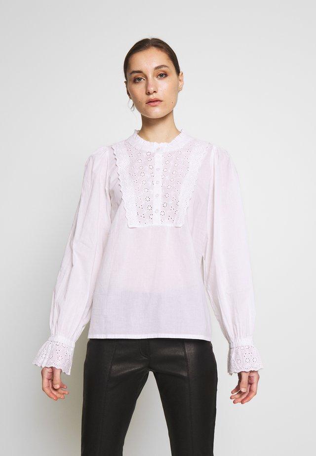 KAAURORA BLOUSE - Button-down blouse - optical white