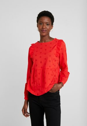 KAFLARY BLOUSE - Blouse - high risk red
