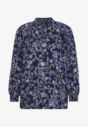 MOLLI HIGH NECK BLOUSE - Bluser - midnight marine