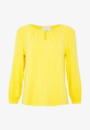 KACECILLA BLOUSE - Long sleeved top - golden rod