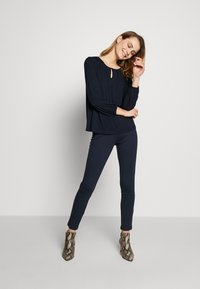 Kaffe - KACECILLA BLOUSE - Long sleeved top - midnight marine - 1