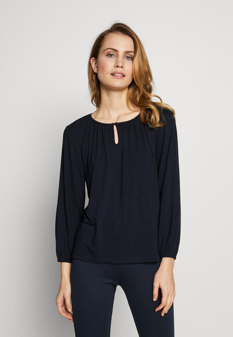Kaffe - KACECILLA BLOUSE - Long sleeved top - midnight marine