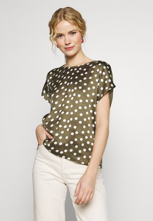 KARENA BLOUSE - Blouse - grape leaf/chalk dot