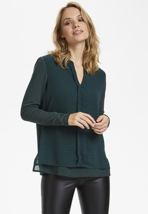 Blouse - green spruce