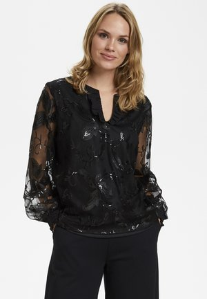 KAPERLA - Blouse - black deep