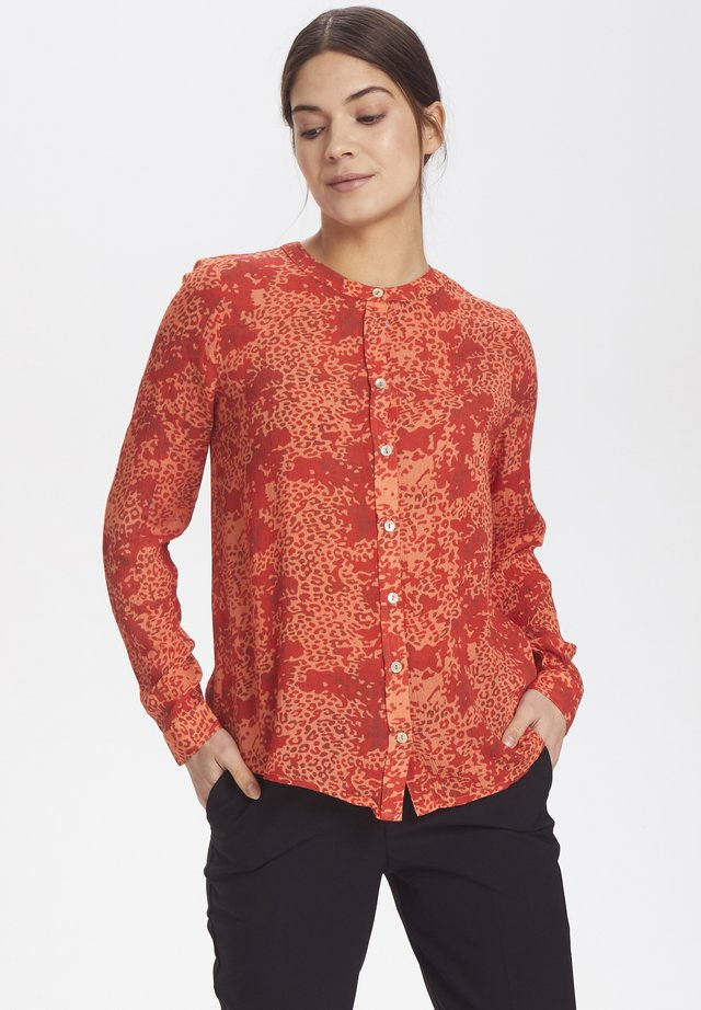 KAJOVITA - Button-down blouse - dull orange