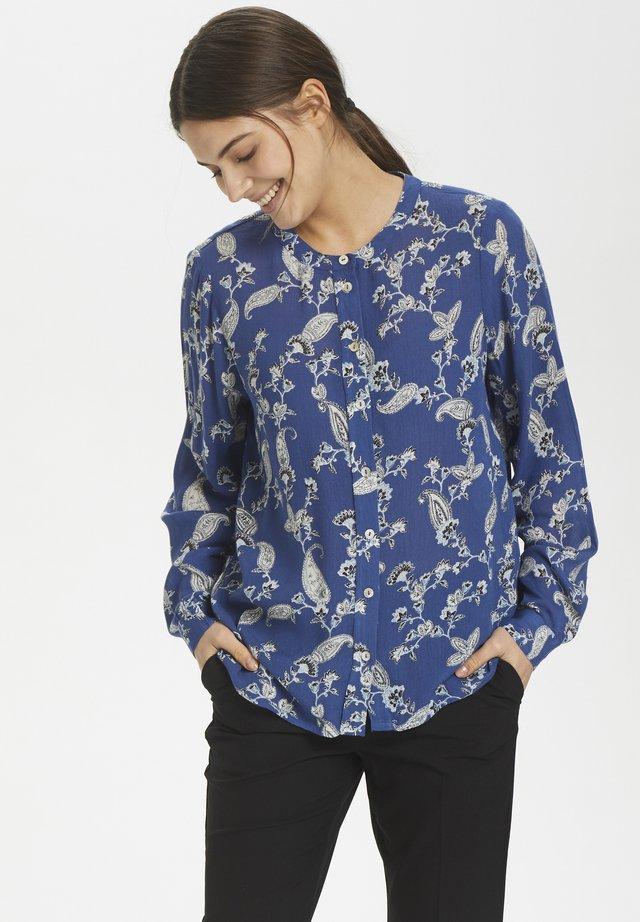 KAJOVITA - Button-down blouse - true navy